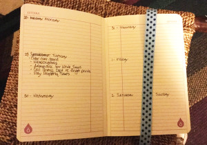 Bullet Journal Week at a glance