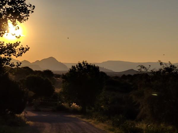 sunrise at Mago Retreat